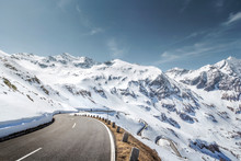 Mountain Road In The Alps