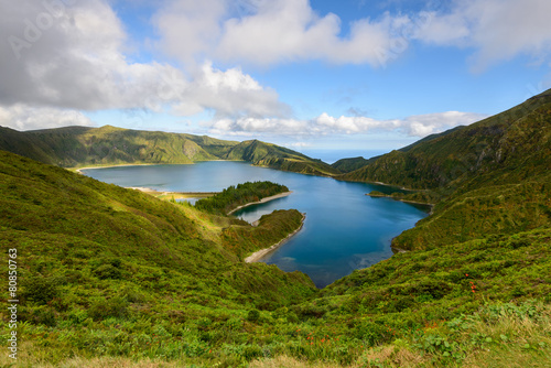 Lagoa do Fogo nos Açores Canvas Print