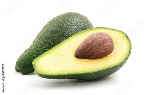 Fotografie, Obraz  Avocado isolated on white