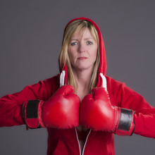 Woman Fighting Fit And Wearing...