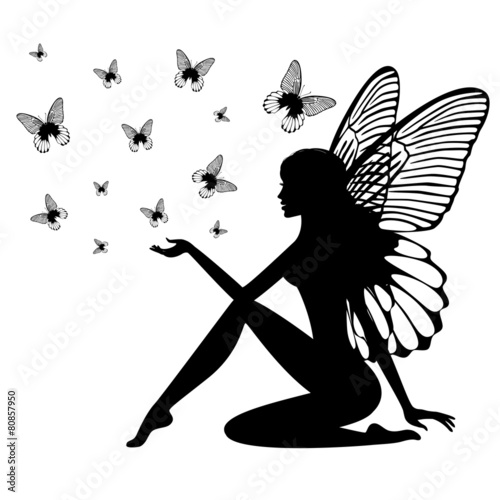 Fotografie, Tablou  Silhouette of fairy