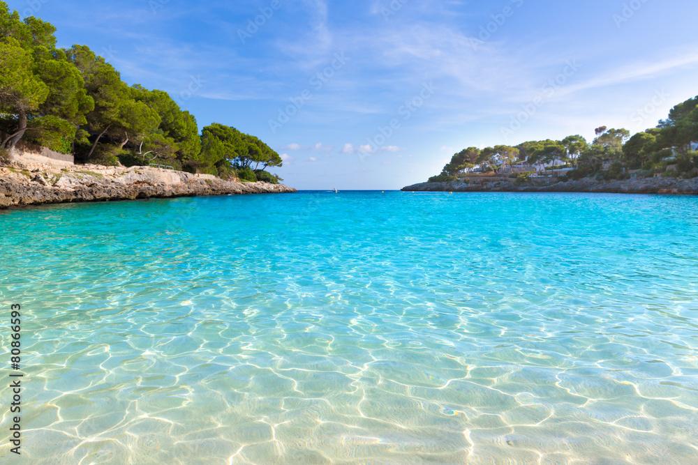 Fototapety, obrazy: Majorca Cala Gran Dor beach in Mallorca Santanyi