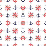 Cute seamless nautical background.