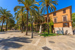 Historic buildings in old town of Palma de Mallorca, Spain