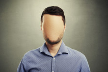 Anonymous Man With Blank Face