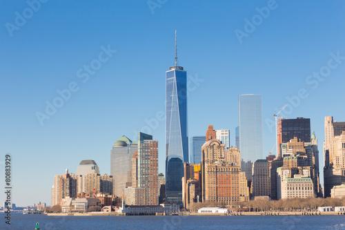 Spoed Foto op Canvas Canada New York City Manhattan downtown skyline.