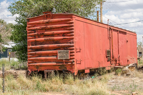 Fotografie, Obraz  Red Railroad Boxcar