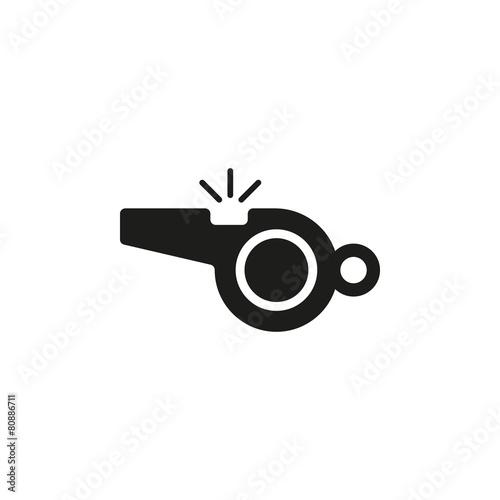 Valokuva The whistle icon. Referee symbol. Flat