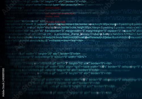 Fotografía  Abstract Background of program web code