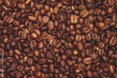 Canvas Coffee beans