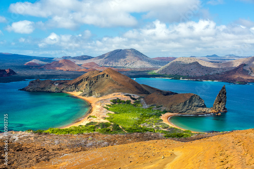 Photo Stands South America Country View from Bartolome Island