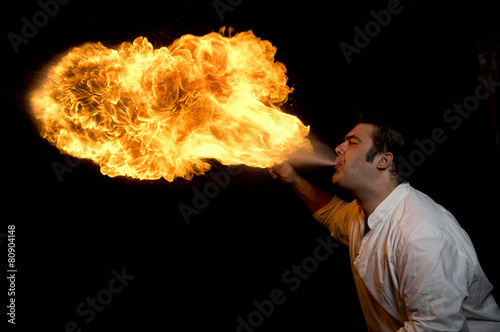 Fotografie, Obraz  fire men