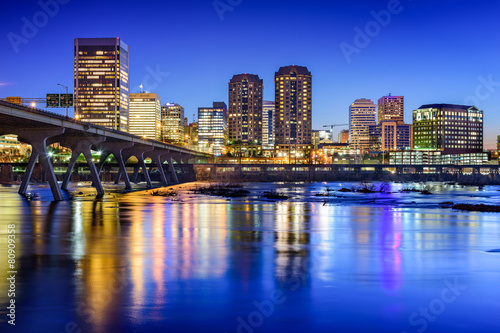 Richmond, Virginia Skyline on the James river Canvas Print