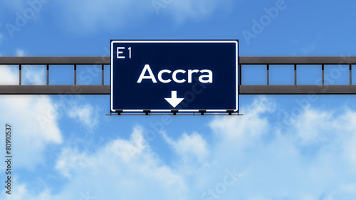 Photo Accra Ghana Africa Highway Road Sign