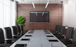 canvas print picture - Modern conference room