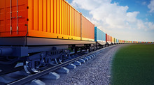 Wagon Of Freight Train With Co...