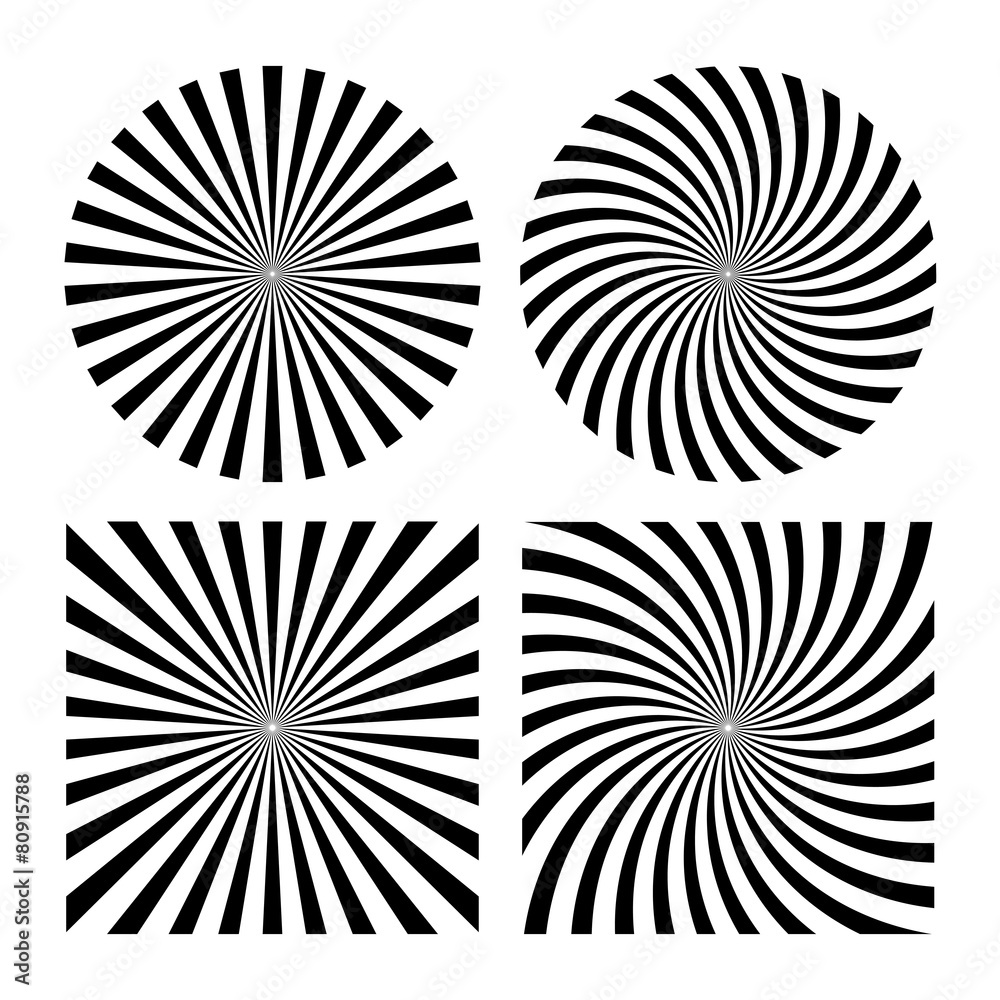 Fototapety, obrazy: Rays striped patterns
