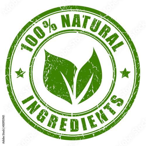 Fotografía  Natural ingredients stamp