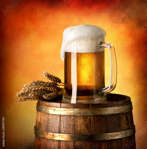 Αφίσα  Lager on barrel