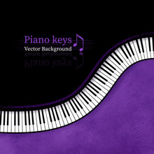 Piano Keys Background.