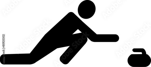 Canvas-taulu Curling Pictogram