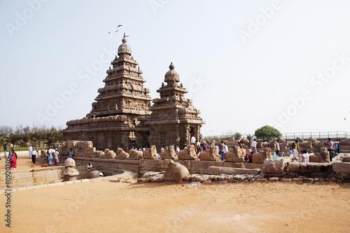 Fotografia, Obraz  Mamallapuram shore temple, Tamilnadu