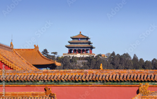 Foto op Aluminium Beijing Roofs of the Forbidden city in Beijing
