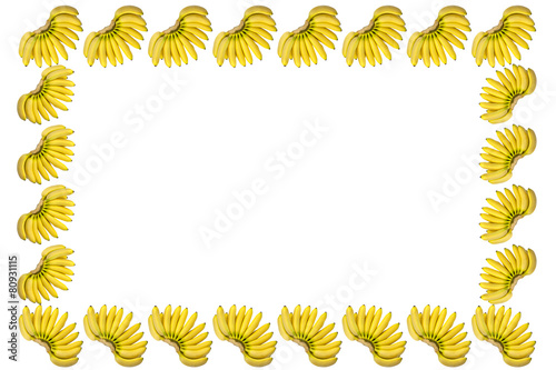 Yellow Baby Banana Frame - Buy this stock photo and explore similar ...