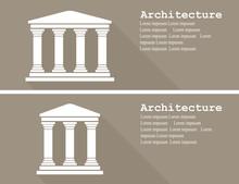Greek Temple Icon Vector Illus...