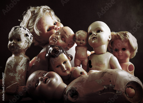 Fototapeta Creepy dolls