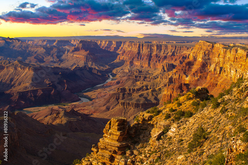 Majestic Vista of the Grand Canyon at Dusk - 80936322