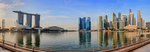 Photo  Singapore city panorama skyline at Marina Bay