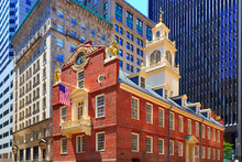 Boston Old State House In Mass...