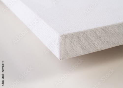 Obraz na plátně Detail of a blank canvas