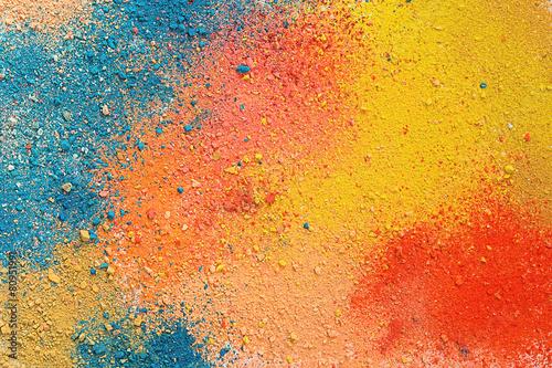 Fotografie, Obraz  Colorful background of pastel powder