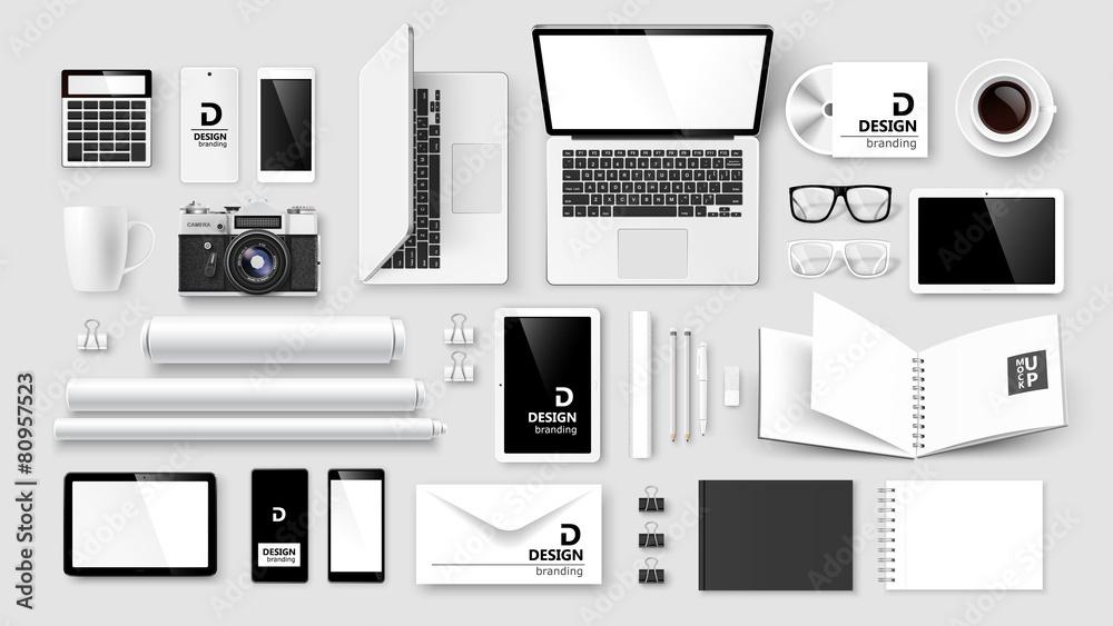 Fototapeta Mock Up set of corporate identity and branding. Vector