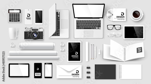 Fototapeta Mock Up set of corporate identity and branding. Vector obraz