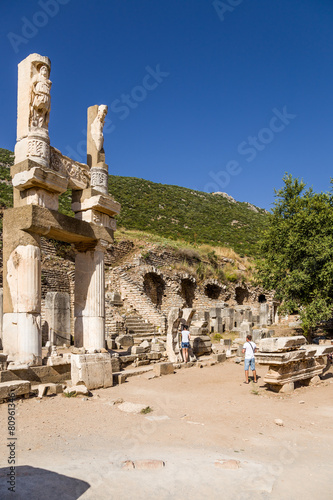 Valokuva  Ancient Ephesus. The ruins of the Temple of Domitian, 81-96 AD