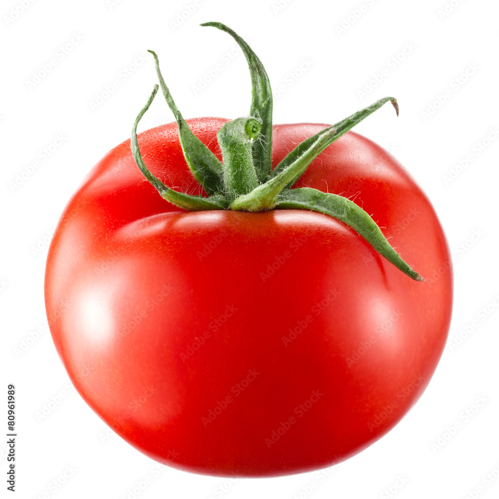 Fototapety, obrazy: Tomato isolated on white background