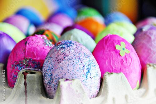 Bunte Ostern Kinder Basteln Osterei Buy This Stock Photo