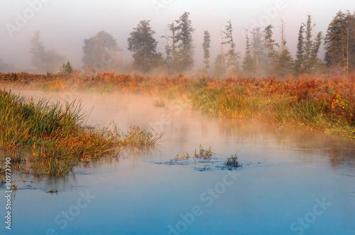 Obraz Jesienna Dzika Rzeka - fototapety do salonu