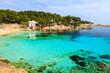 Beach with turquoise sea water, Cala Gat, Majorca island, Spain