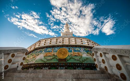 Spoed Foto op Canvas Bedehuis Shanti Stupa