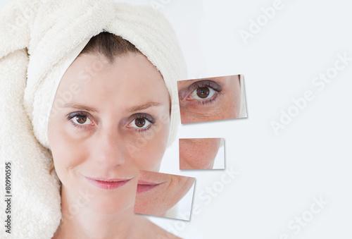 Fototapety, obrazy: Beauty concept - skin care, anti-aging procedures, rejuvenation,