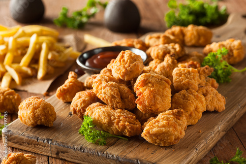 Homemade Crispy Popcorn Chicken Canvas Print