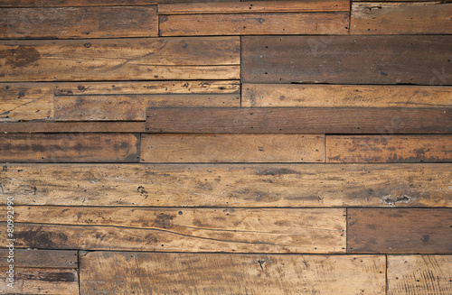 Tuinposter Hout Closeup old wood texture wall