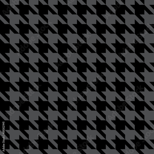 Photo  Black & Gray Houndstooth Check Fabric Pattern Texture