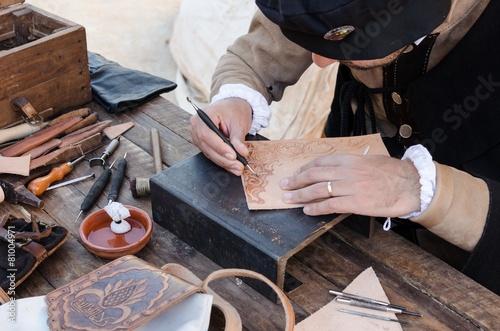 artesano de piel Canvas Print