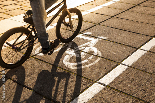 Canvas Prints Cycling Bike path.