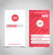 Business card set template corporate style